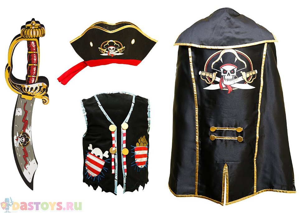 детский костюм пирата 158 см