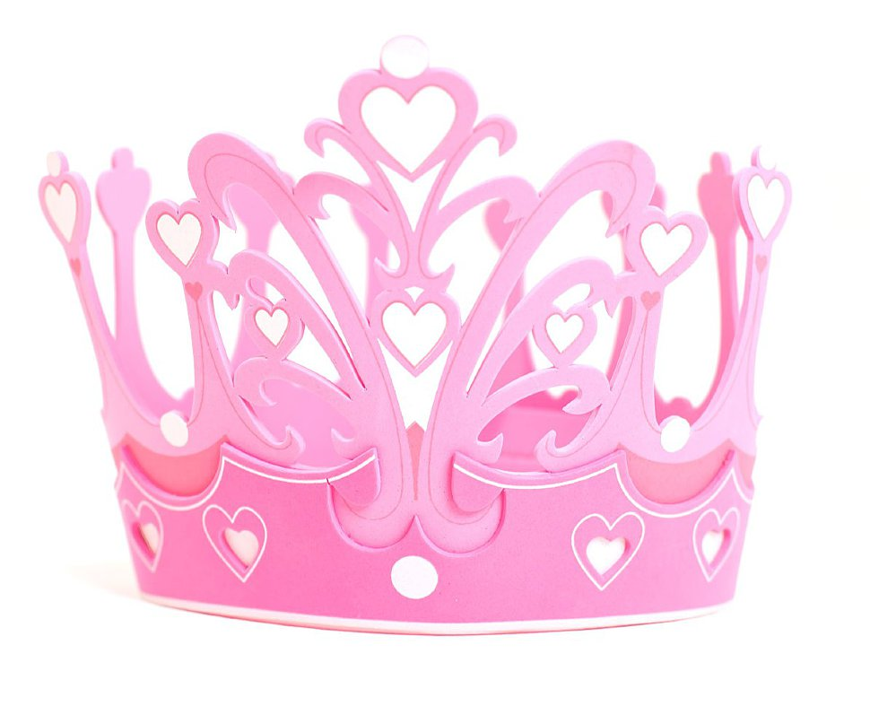 корона для принцесс розовая