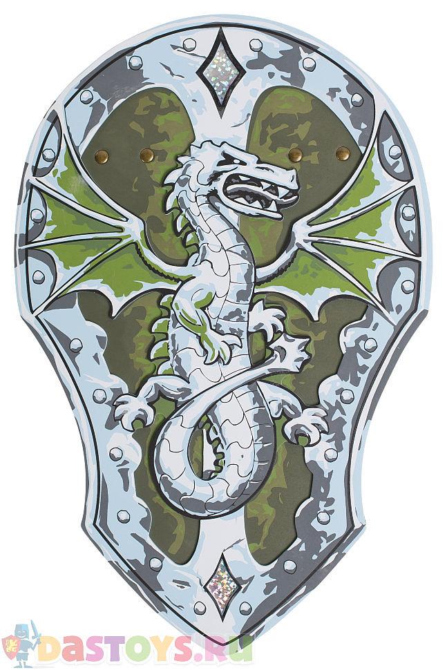 зеленый щит с драконом