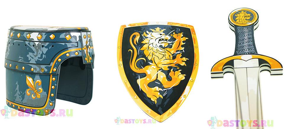 черный щит с коронованным золотым львом