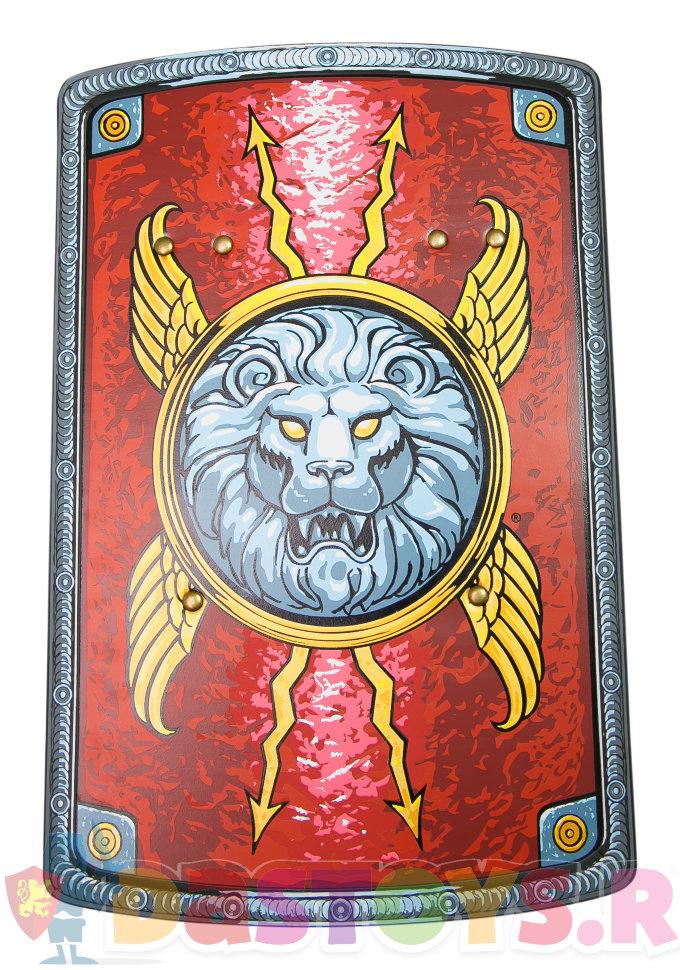 красный щит легионера со львом