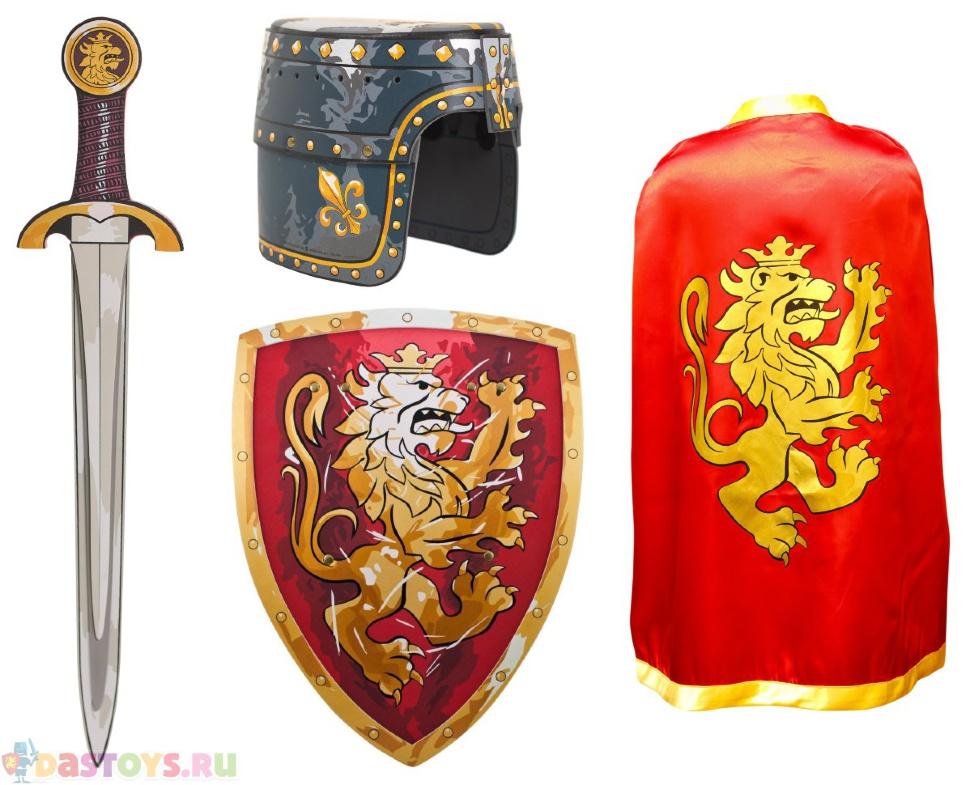 набор рыцарь: меч щит плащ