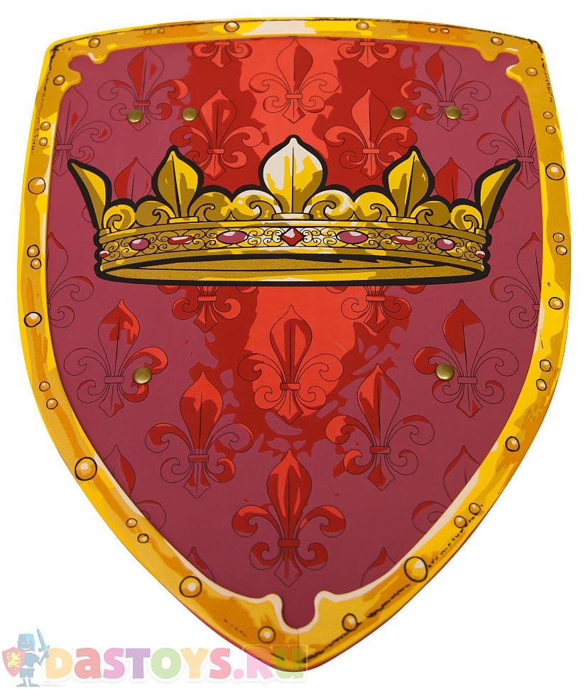 красный щит с короной