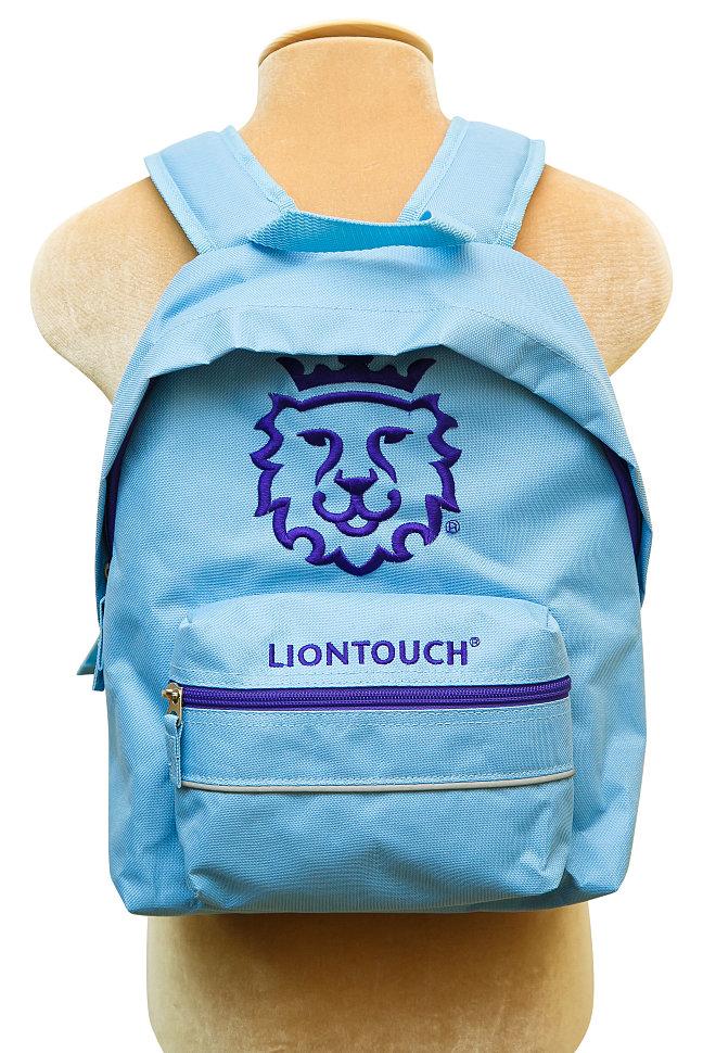 рюкзак детский голубого цвета