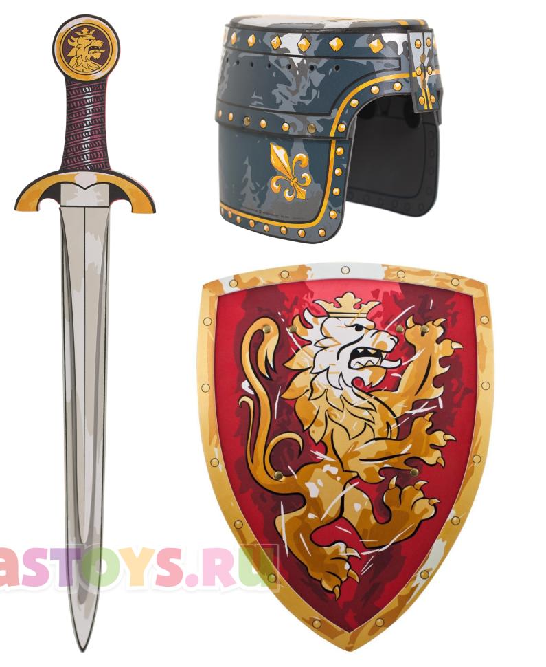набор рыцаря детский шлем меч щит