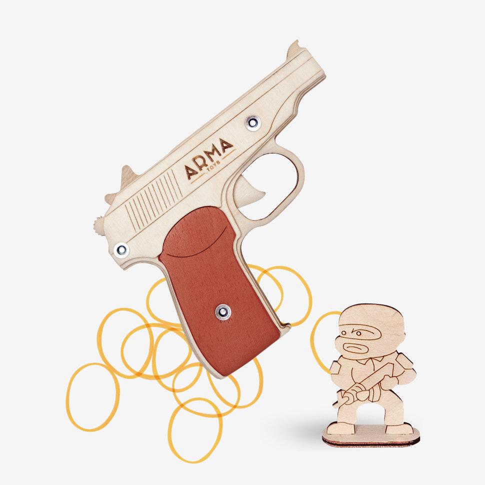 Резинкострел макаров пистолет розовая мечта конструктор замок